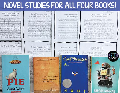 Novel studies for books that fifth graders love