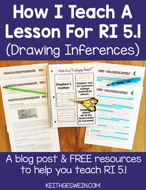 A blog post and free resources to help you teach RI 5.1